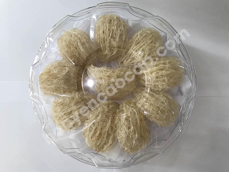Hộp nhựa hình tròn (khía) đựng 100g yến