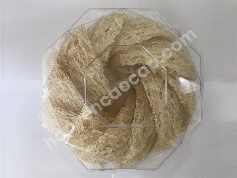Hộp nhựa kim cương lớn đựng 100g yến